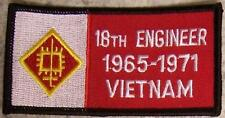 Embroidered Military Patch Vietnam Tour 18th Engineer badge NEW