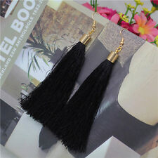 Bohemian Earrings Vintage Long Tassel Fringe Boho Dangle Earrings Chinese Style