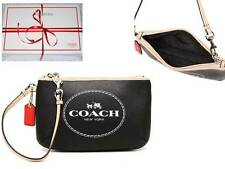 New COACH F51788 HORSE AND CARRIAGE MEDIUM Wallet Wristlet / BLACK +Receipt +Box