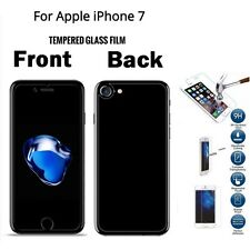 100% Genuine Front + Back Tempered Glass Screen Protector Film for iPhone 7 4.7""