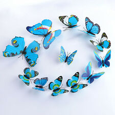 12pcs Art Decal Home Room Wall Stickers 3D Butterfly Sticker Decorations Decor
