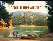 1976 MG Midget Convertible Original 8-page Car Sales Brochure Catalog