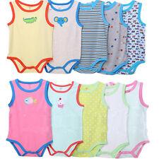 Carters BABY BODYSUITS 5PCS 100% Cotton Infant Body Vest Clothing Jumpsuit