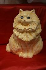 Large Golden Colored Ceramic Cat- (12 inches in height)