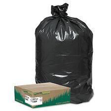 Earthsense Recycled Large Trash and Yard Bags 33gal .9mil 32.5 x 40 Black 80