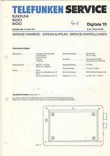 Telefunken Service Stromlaufplan Digitale 10   B1328