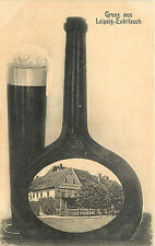 Gruss Aus Leipzig-Eutritzsch Vignette in Liquor Bottle With Beer Gosen Schanke