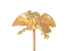 """Rare Victorian French 18CT Gold """"Fighting Rooster"""" stick pin"""