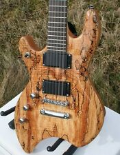 Noble 12-saitige e-guitarra, erlenkorpus, spalted Maple, arce, zurdo lefthand