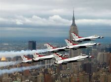 MILITARY AIR PLANE FIGHTER JET USAF F16 FALCON NEW YORK POSTER ART PRINT BB1154A
