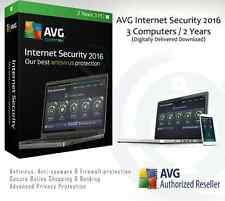 Avg internet security 2016 - 3 ordinateurs/2 ans | livré par e-mail