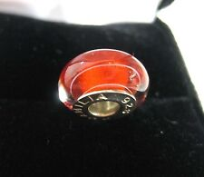 NEW CHAMILIA RED SPIRAL MURANO & ART GLASS BEAD #O-17 peppermint Christmas charm