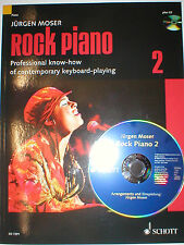 Rock Piano Band 2 mit CD Moser Jürgen Basic Rock Styles Solo Lines Creative Play