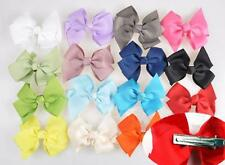 10pcs Baby Girls Hair Ribbon Bowknot Bow Clips Grosgrain Boutique he92