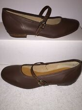 Womens Size 4.5M Brown Scoop Square Dance Shoes