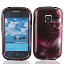 For Samsung Galaxy Centura S738C HARD Case Snap On Phone Cover Feather Flowers