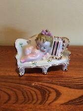 Vintage Porcelain - Sleeping Baby on Sofa - Japan