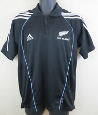 Adidas All Blacks Rugby Union Polo Shirt Top Tee Jersey New Zealand Mens S Small