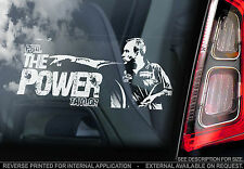 Phil 'THE POWER' Taylor - Car Window Sticker - Darts Legend Sign Art Gift