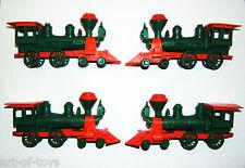 "Konvolut, 4 x Lokomotive ""Santa Fe"", Kunststoff-Spielzeug, W. Germany, 1950/60er"
