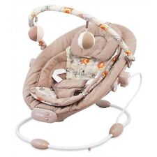 Baby Vibrating Musical Bouncer, Baby Rocker Chair, Hanging Ball Toys - LATTE