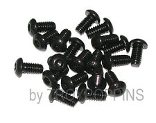 20-BLACK-1/4-20 x 1/2 BH STEEL BUTTON HEAD ALLEN CAP MACHINE SCREW FASTENER BOLT