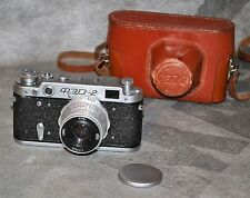 "RUSSIAN USSR ""FED 2"" film camera + Industar-26m lens"