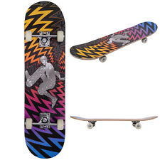 "Professional 31"" x 8"" Adult Skateboard Complete PVC Wheel Trucks Maple Deck Wood"