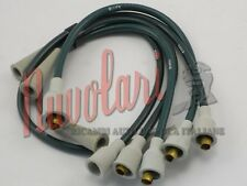 SERIE CAVI CANDELE CAVIS VERDI PER FIAT 124 1200 BERLINA IGNITION CABLES NUOVI