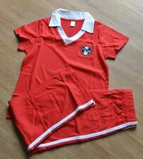 New Boys short sleeve100% cotton Football Pajamas Red 9-10 years