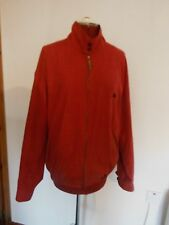 BURBERRY MENS HARRINGTON JACKET SMALL RED NOVA CHECK LINED ZIP FRONT VINTAGE