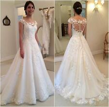 White Ivory Wedding Dress Bridal Gown Custom Size 4 6 8 10 12 14 16 18