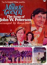 THE MIRACLE GOES ON Songs of John W Petersons GOSPEL MOVIE Songbook 1977 Rare