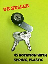 LOT OF 2 45° Cam Lock Spring Cabinet Mailbox Desk Drawer Cupboard Locker 2 Keys