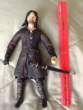 "2003 Marvel Lord of the Rings HELMS DEEP ARAGORN Action Figure 11"" LOTR"