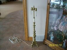 Candlestick Table Lamp Brass Claw & Ball Ornate Angel Design Signed England