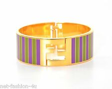 FENDI FF LOGO DETAIL METAL BRACELET CUFF SIZE M BNWT BOX PERFECT GIFT