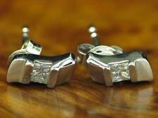 925 Sterling Orecchini Argento con guarnizione in zirconia/orecchini/in puro argento 1,8g