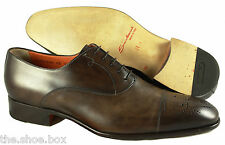 S - Men's SANTONI 'Stafford' Cap Toe Oxfords US 12 - 2E (Brown)