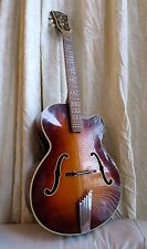 Beautiful Hofner President Archtop Acoustic Guitar 1965