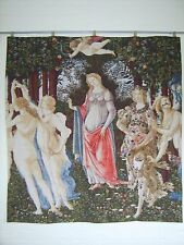 'BOTTICELLI PRIMAVERA' TAPESTRY WALL HANGING measures 54x59 inch 138x150cm