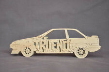 SALE LAST ONE Vintage Toyota Trueno Car Wooden Puzzle Toy