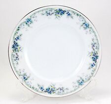 Noritake LIMERICK 3063 Salad Plate 8.25 in. Ireland Blue Flowers Oval Border