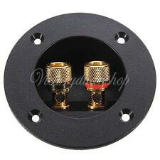 2-Way Speaker Car Box Terminal Round Spring Cups Connector Subwoofer Enclosure