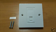 RJ11 TELEPHONE SINGLE SOCKET MODULE FACEPLATE FAX ADSL MODEM US EURO PRESSAC