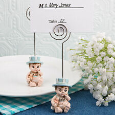 75 - Vintage Baby Boy Place Card Holder - Baby Shower Favor - Free US Shipping