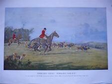 Forrard Away Forrard A-W-A-Y colour fox hunting print by George Wright 1933