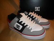 NEW! DC Pure   LEATHER   Mens   size 7  Black Red & White Skate / Tennis  Shoes
