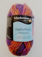 1~Wash+Filz-it! Yarn~100% Wool Yarn~Purple/Orange Ombre~Schachenmayr/Coats/Italy