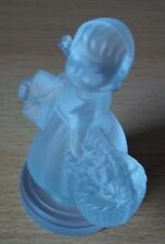 """Hummel Figur mit Motiv Hum 13 """"Gratulantin"""" * 24% Bleikristall * Rarität !"""